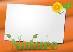 nature text sheet - stock illustration