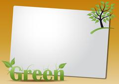 Stock Illustration of green text sheet