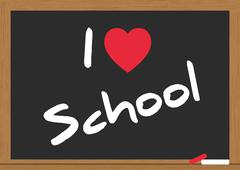 Stock Illustration of love school