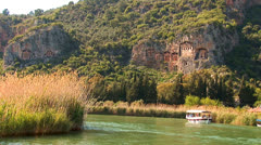 Lycian tombs Stock Footage