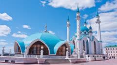 Mosque  Qol Sharif in Kazan, Russia Stock Footage