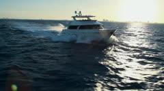 High Speed Yacht Cruising - Aerial Heli Footage Arkistovideo