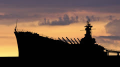 Alabama USS Alabama dusk - stock footage