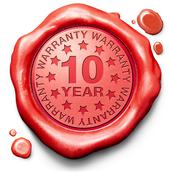 Ten year warranty Stock Illustration