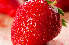 Strawberriy macro Stock Photos