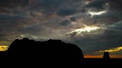 Alaska Kayak Island dusk Stock Footage