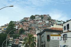 Brazilian Slums Rocinha in Rio de Janeiro, Brazil - stock photo