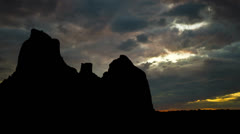 Arizona Boynton Canyon dusk Stock Footage
