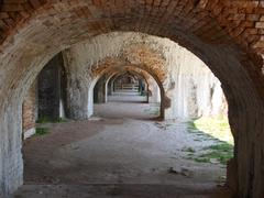 Arches at Fort Pickens - stock photo