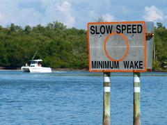 Stock Photo of Slow speed sign