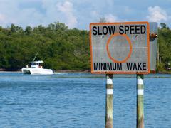 Slow speed sign - stock photo