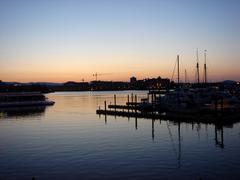 Port of Victoria - stock photo