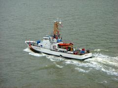 Coast guard vessel Stock Photos
