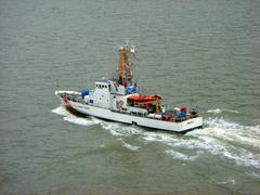 Coast guard vessel - stock photo