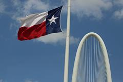 Texas Flag fluttering Stock Photos