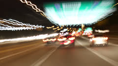 The drive of lights, nights HD Stock Footage