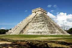 Ancient Temple of the Maya Stock Photos