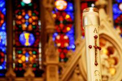 Catholic candle Stock Photos