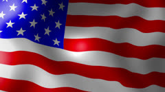 usa american flag - looping, waving, paning, a beautiful finish looping flag - stock footage