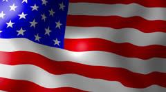Usa american flag - looping, waving, paning, a beautiful finish looping flag Stock Footage