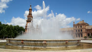 Stock Video Footage of Plaza de Espana Fountain
