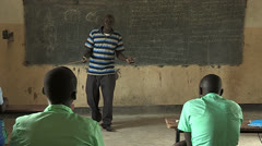 Teacher in a South Sudan Classroom Stock Footage