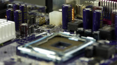 Computer main board,electronic circuit assembly rotating. Stock Footage
