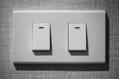 White light switch Stock Photos