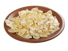 farfalle pasta - stock photo