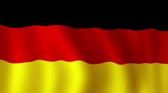 German flag - looping, waving, paning, a beautiful finish looping flag animat Stock Footage