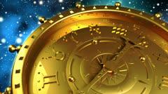 Golden Zodiac Machine Stock Footage
