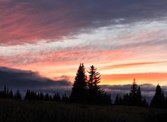 alaskan sunset - stock photo
