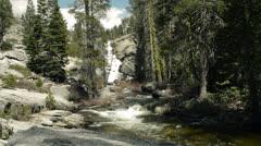 Yosemite National Park, Chilnualna Falls, upper Stock Footage