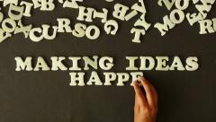 Making Ideas Happen - stock footage