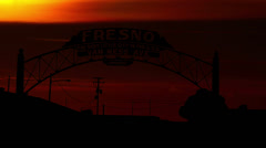 California Fresno sunset Stock Footage