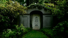 Tomb with White Door Stock Footage