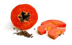 mellow papaya - stock photo