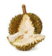 Durian. giant tropical fruit. Stock Photos