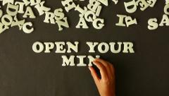 Open Your Mind Stock Footage