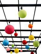 Colorful sphere lamps. Stock Photos