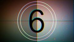 Countdown Film Leader 4 Stock Footage