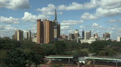 Nairobi Skyline - stock footage