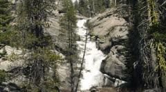 Yosemite National Park, Chilnualna Falls, upper, CU Stock Footage