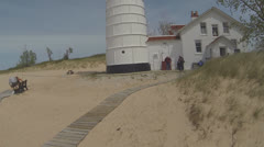 Walking to the Lighthouse, Version #3 Stock Footage
