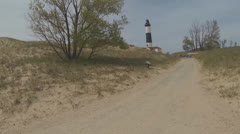 Walking to the Lighthouse, Version #2 Stock Footage