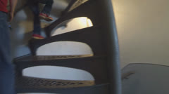 Climbing Stairs, Inside the Lighthouse (Version #1) Stock Footage