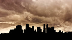 California Los Angeles strom clouds - stock footage