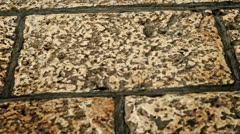 Old style aged stone wall Stock Footage