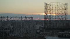 Gasometer Skyline (Timelapse) (Rome) Stock Footage