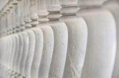 Stock Photo of thai style ancient  marble banister